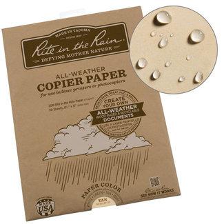 Rite in the Rain Weatherproof Laser Printer Paper, Letter Formaat, Tan , 50 Sheet Pack (No. 9511T-50)