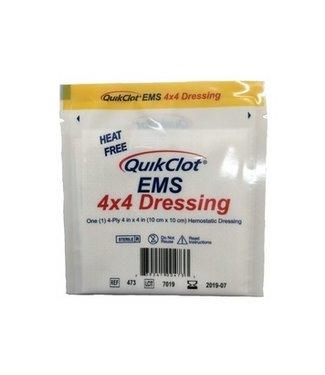 """QuickClot Quikclot Hemosatic Dressing 4x4"""" EMS 10x10cm"""