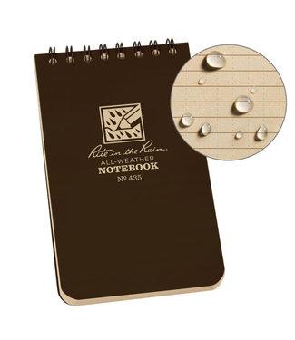 Rite in the Rain 3 x 5 Top Spiral Notebook 435 Brown