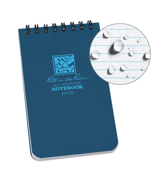 Rite in the Rain 3 x 5 Top Spiral Notebook 235 Blue