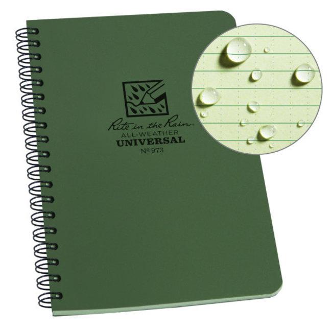 Rite in the Rain Side Spiral Notebook  Groen 973