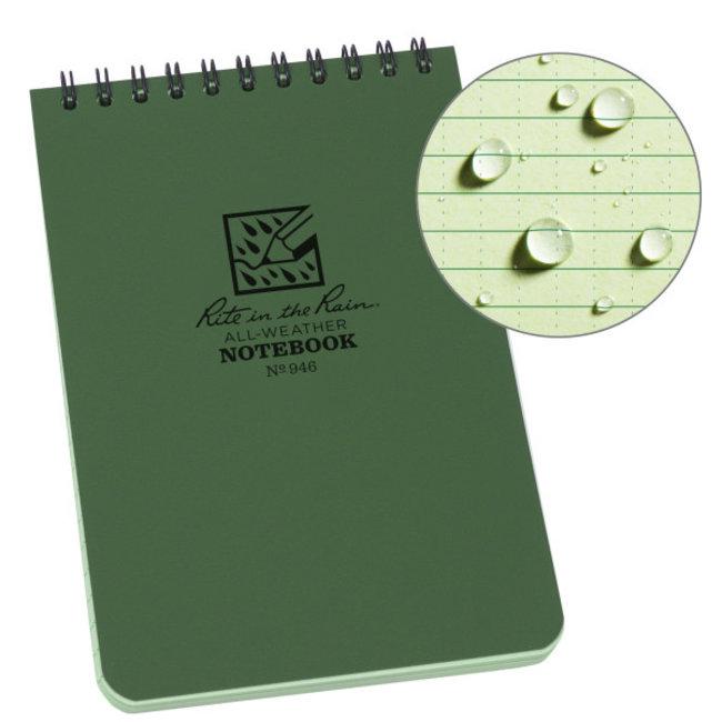 Rite in the Rain 4 x 6 Top Spiral Notebook 946 Green