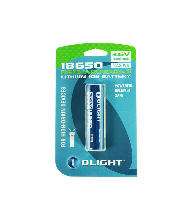 Olight 18650 3400mAh 3.6v 12.2Wh