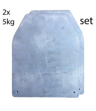 Applied Orange™ Crossfit 2x5kg Gewichts plates set - voor Condor Sentry Plate Carrier