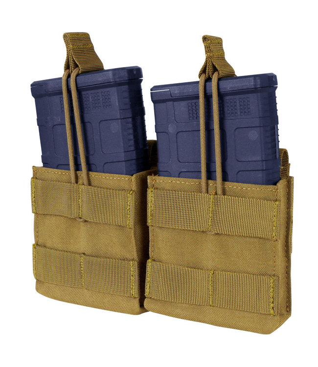 Condor Outdoor Double M14 open top mag Pouch Coyote Brown (MA24-498)