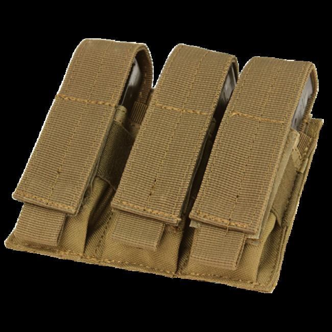 Condor Outdoor Triple Pistol Mag Pouch Coyote Brown (MA52-498)