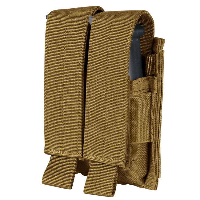Condor Outdoor Double Pistol Mag Pouch Coyote Brown (MA23-498)