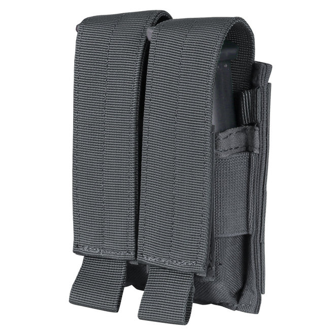 Condor Outdoor Double Pistol Mag Pouch Slate Grey (MA23-027)