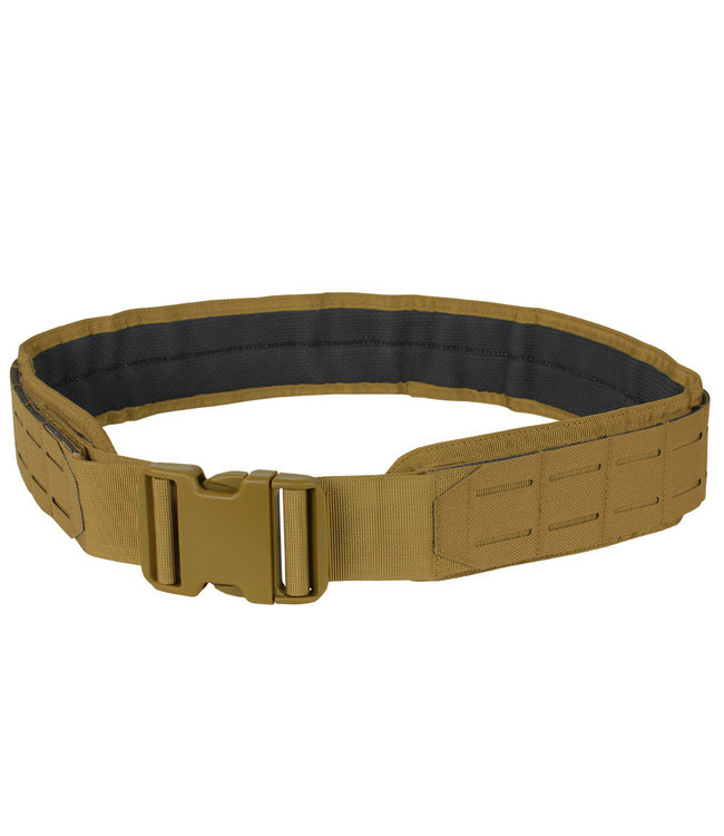 Condor Outdoor LCS Gun Belt - Lasercut MOLLE Belt Coyote Brown (121174-498)