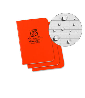 Rite in the Rain Set 3 Field Flex Books Blaze Orange - Mini Stapled Books 3 pack  OR71FX-M