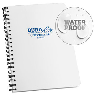 Rite in the Rain DURARITE SIDE SPIRAL NOTEBOOK - WHITE (673)