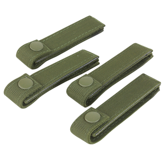 Condor Outdoor 4 INCH MOD STRAPS OD GREEN 4 PACK MOLLE STRAPS (223-001)