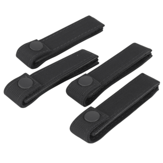 Condor Outdoor 4 INCH MOD STRAPS BLACK 4 PACK MOLLE STRAPS (223-002)