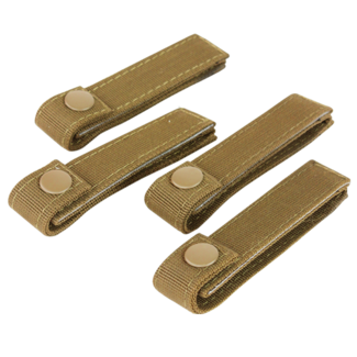 Condor Outdoor 4 INCH MOD STRAPS Coyote Brown 4 PACK MOLLE STRAPS (223-498)