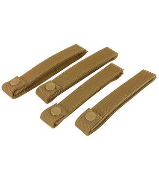 Condor Outdoor 6 INCH MOD STRAPS Coyote Brown 4 PACK MOLLE STRAPS (224-498)