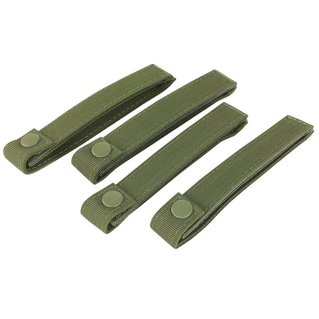 Condor Outdoor 6 INCH MOD STRAPS OD Green 4 PACK MOLLE STRAPS (224-001)