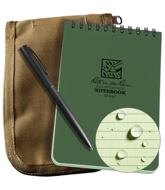 Rite in the Rain 3 x 5 Kit Green Book/Tan Cover/ Black Pen (935-KIT)