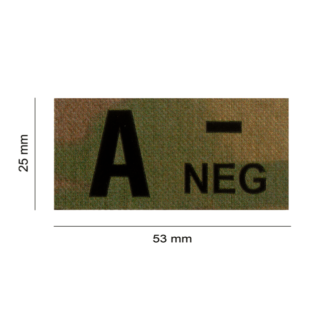 Clawgear A NEG IR PATCH MULTICAM - INFRARED BLOODTYPE