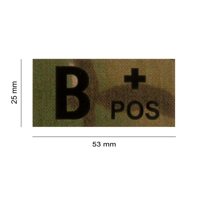 Clawgear B POS IR PATCH MULTICAM - INFRARED BLOODTYPE