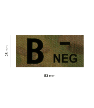 Clawgear B NEG IR PATCH MULTICAM - INFRARED BLOODTYPE