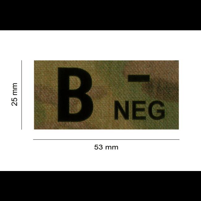 Clawgear B NEG IR PATCH MULTICAM - INFRAROOD BLOEDGROEP