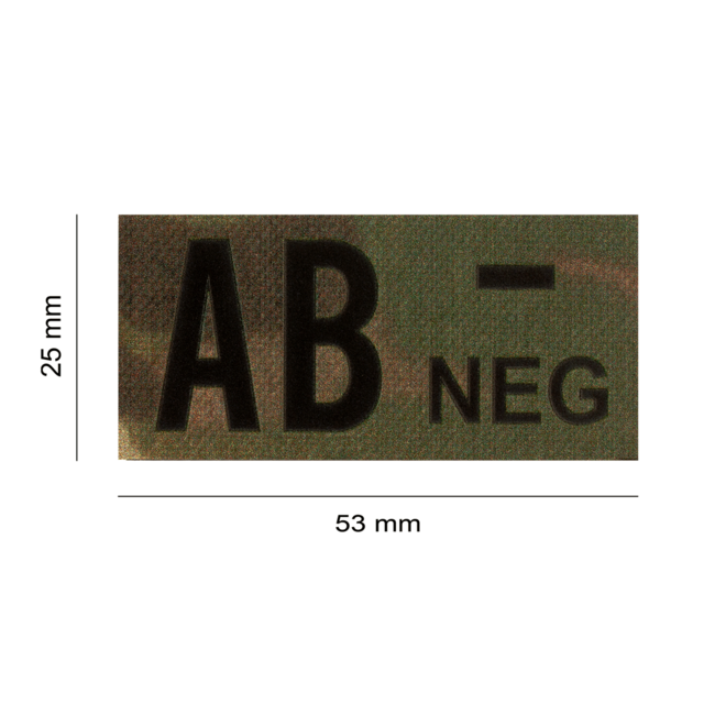 Clawgear AB NEG IR PATCH MULTICAM - INFRARED BLOODTYPE