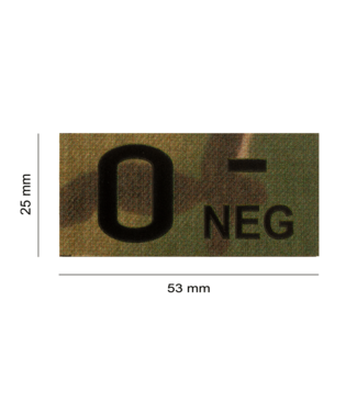 Clawgear O Neg IR PATCH MULTICAM - INFRARED BLOODTYPE