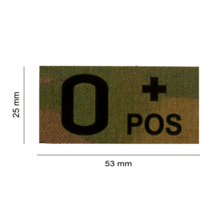 Clawgear O POS IR PATCH MULTICAM - INFRARED BLOODTYPE