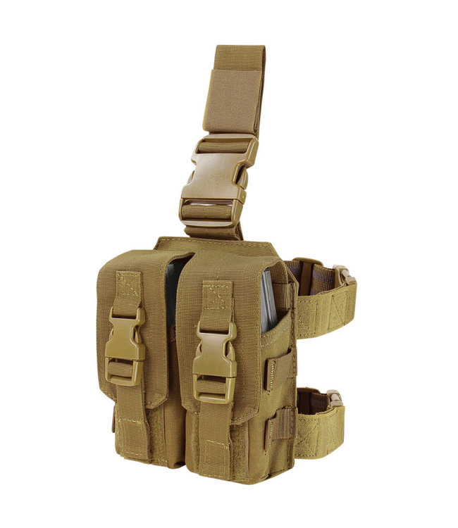 Condor Outdoor DROP LEG M4 MAG POUCH Coyote Brown (MA65-498)