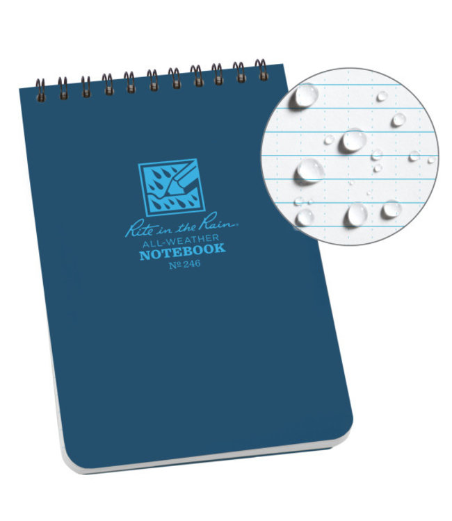Rite in the Rain 4 x 6 Top Spiral Notebook 246 Blue
