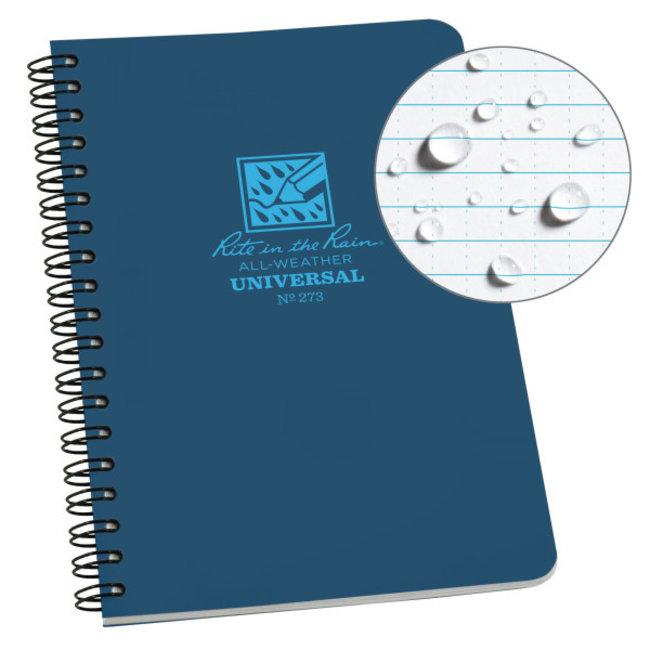 Rite in the Rain Side Spiral Notebook  Blue 273