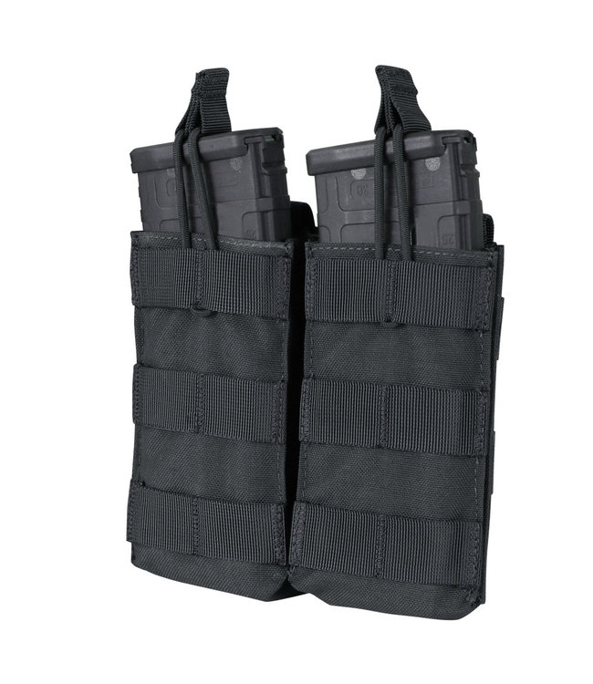 Condor Outdoor Double Open-Top M4/HK416/C8/Diemaco Mag Pouch Black  (MA19-002)