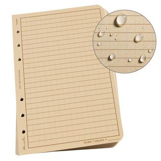 """Rite in the Rain Loose Leaf Paper, 4.625"""" x 7"""", Tan, 100 Sheet Pack (No. 982T)"""
