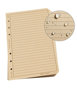 "Rite in the Rain Loose Leaf Paper, 4.625"" x 7"", Tan, 100 Sheet Pack (No. 982T)"