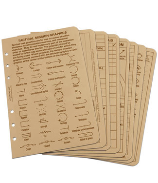 Rite in the Rain TACTICAL REFERENCE CARDS  (9200T-R)
