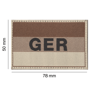 Clawgear Germany/Deutschland Flag Patch Desert (20970)