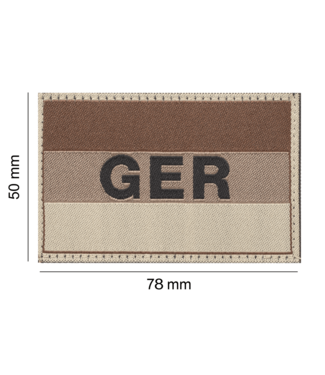 Clawgear Germany/Deutschland Flag Patch Desert (20970)