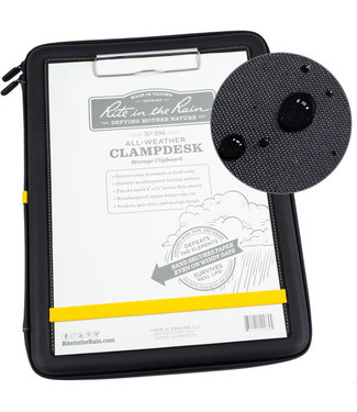 Rite in the Rain Clampdesk, Black with Writing Surface, Storage Inside (No. 296)