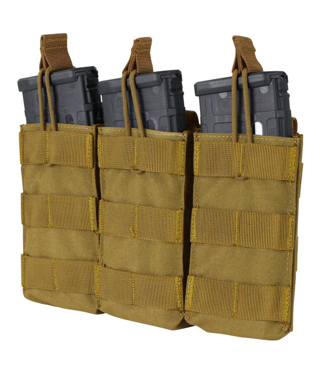 Condor Outdoor Triple Open-Top M4/HK416/C8/Diemaco Mag Pouch Coyote Brown (MA27-498)