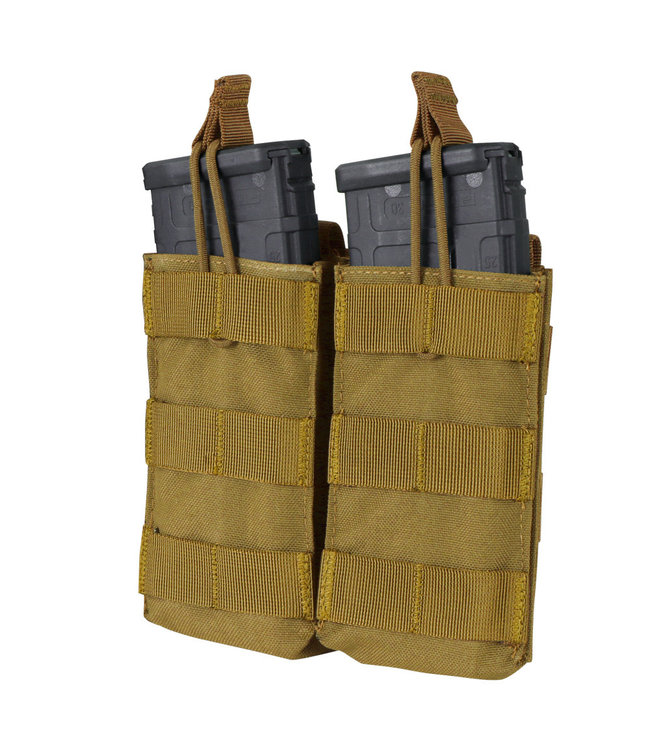 Condor Outdoor Double Open-Top M4/HK416/C8 Mag Pouch Coyote (MA19-498)