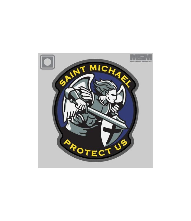 Mil-Spec Monkey Saint Michael Modern PVC Morale Patch