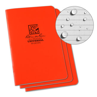 "Rite in the Rain Notebook 4 5/8"" x 7"" orange, 3 stuks, OR71FX"