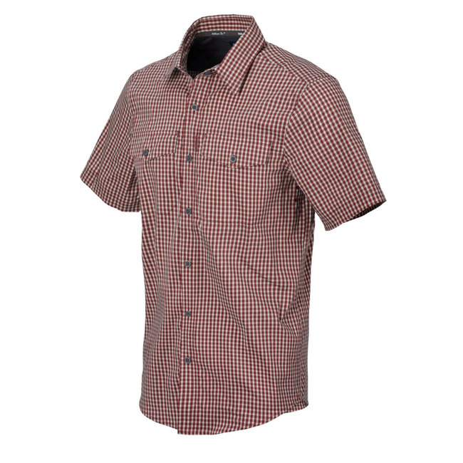 Helikon-Tex COVERT CONCEALED CARRY SHORT SLEEVE SHIRT RED DIRT CHECKERED  (KO-CCS-CB-C5)