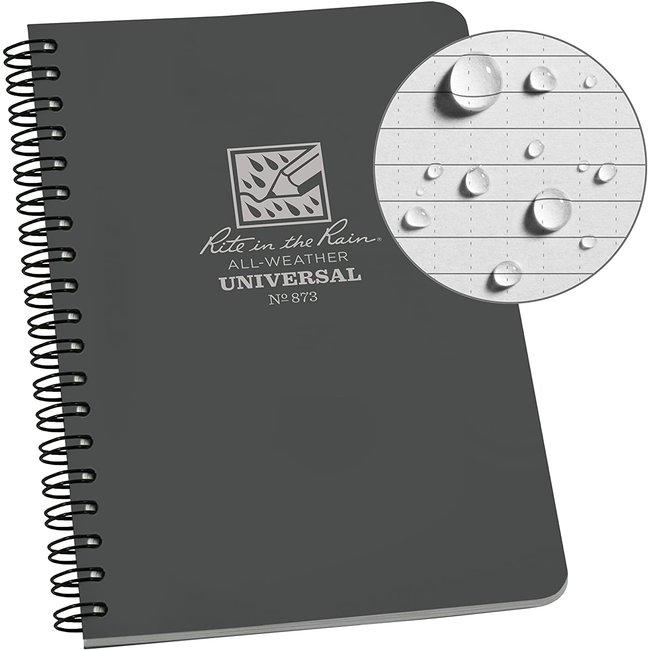 Rite in the Rain Side Spiral Notebook Grey 873