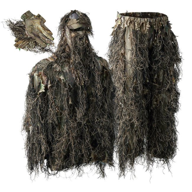 Deer Hunter Outdoor Sneaky Ghillie Pull-over Set with gloves