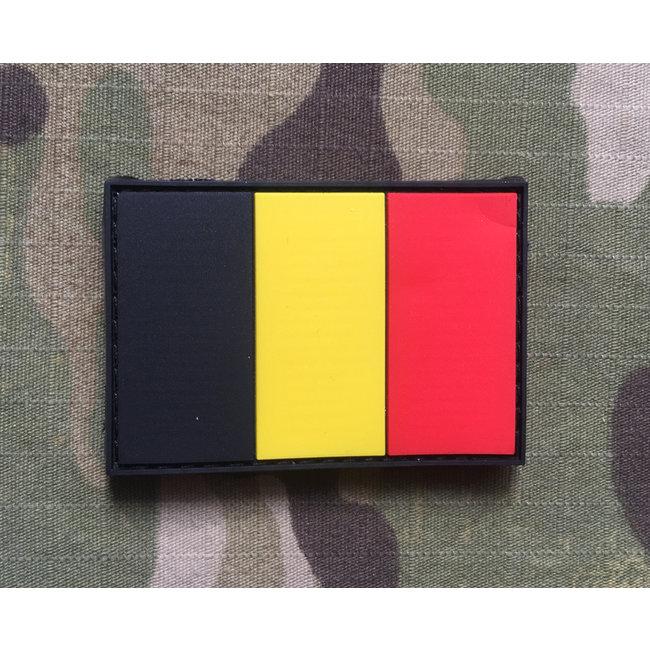 Applied Store Belgium Flag Rubber Patch Color