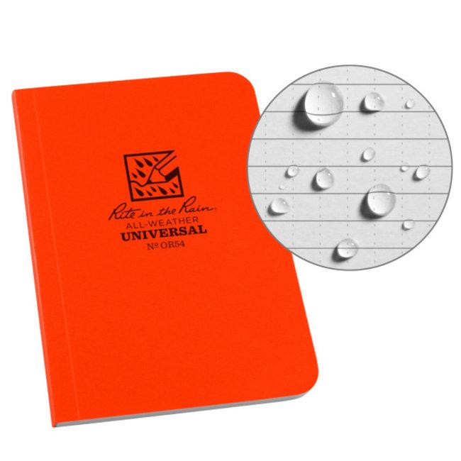 """Rite in the Rain Universal Memo Book, Orange, 3.5"""" x 5"""" OR54"""
