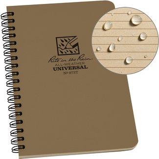 Rite in the Rain Side Spiral Notebook  Tan 973T