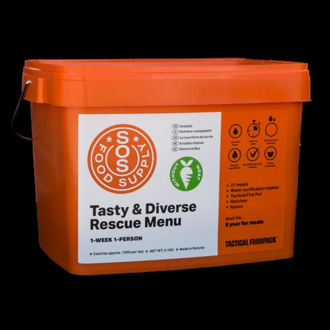 Tactical FoodPack SOS Food Supply  Bucket - No Meat