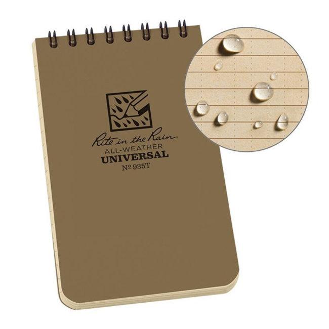 Rite in the Rain 3 x 5 Top Spiral Notebook 935T Tan